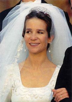 infanta Elena de España y Jaime de Marichalar y Saenz de Tejada de España el dia de su boda el 18 de Marzo de 1995 en Sevilla