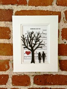 Personalized Wedding or Anniversary Gift Handmade 3D Paper