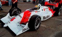 Ayrton Senna testing a Marlboro Team Penske IndyCar - 1992 - Phoenix Firebird Raceway