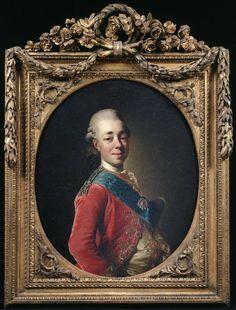 Alexander Roslin                Portrait of Tsarevich Paul, later Tsar of Russia, ca. 1777                Oil
