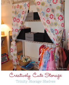Creatively Cute Wire Storage Shelves  #TRINITYproducts #spon