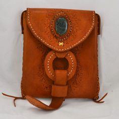 saddle tooled handbag little messenger bag with by ColorsOfEtnika, $89.95
