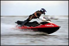 you can not stop smiling on a jetski