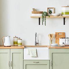 Green Reactive Glaze Tall Kitchen Canister | Dunelm Kitchen Room Design, Kitchen Layout, Home Decor Kitchen, Interior Design Kitchen, New Kitchen, Home Kitchens, Small Kitchen Designs, Small Modern Kitchens, Apartment Kitchen Decorating