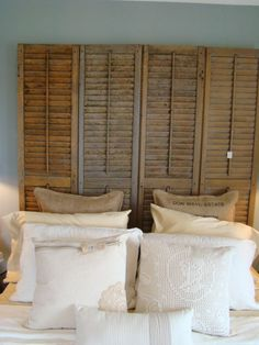 headboard out of old shutters. love!