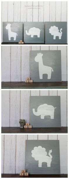 Using wall art we'd include in the nursery to designate different tables.