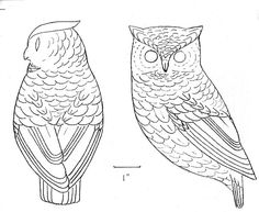 Free Printable Wood Carving Patterns Owl More