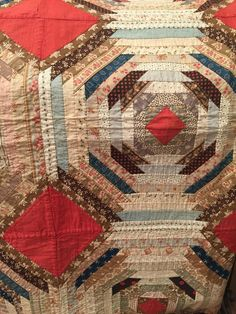 """Estate Collection Antique Quilt """"See You in Court"""" – Chapel Farm Collection Quilts Vintage, Old Quilts, Antique Quilts, Scrappy Quilts, Small Quilts, Mini Quilts, Vintage Textiles, Pineapple Quilt Pattern, Pineapple Quilt Block"""