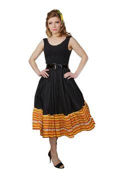 Black Dress Summer 50s vintage by VintageStage on Etsy, $33.00