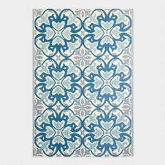 UV /& Stain Resistant 150 cm x 240 cm Dublin Garden Mold Mildew Fab Hab Reversible Outdoor//Indoor Rug Perfect for Decking Dazzling Blue /& White Patio