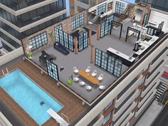 House 109 Penthouse level 1 #sims #simsfreeplay #simshousedesign