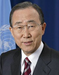 One of Secretary-General Ban KI-moon's first major initiatives was the 2007 Climate Change Summit, followed by extensive diplomatic efforts that have helped put the issue at the forefront of the global agenda. Subsequent efforts to focus on the world's main anti-poverty targets, the Millennium Development Goals, have generated more than $60 billion in pledges, with a special emphasis on Africa and the new Global Strategy on Women's and Children's Health.