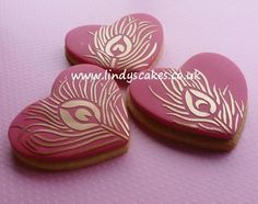Peacock stencilled cookies by Lindy Smith by Lindy's cakes, via Flickr