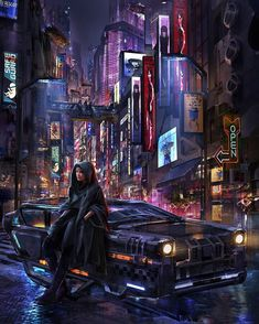 Rania and her HOVA, new Cloudpunk key visual by Eddie Mendoza What Is Cyberpunk, Cyberpunk Art, Neon City, Melting Crayons, Modern City, Night City, Future City, Indie Games, Mendoza