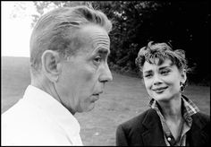 Humphrey Bogart Audrey Hepburn 1954 Sabrina