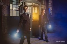 """They had a TARDIS custom built specifically for their engagement photos. 