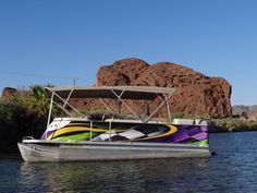 Foot Pontoon Boat Wrap By Artful SIgns Inc Boat Wraps - Vinyl graphics for pontoon boats