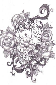 Sugar Skull Coloring Pages to Print Free | Sugar Skull Print | JMG Creations