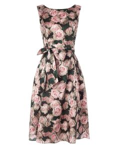 Buy Phase Eight Jardin Rose Dress, Multi from our Women's Dresses range at John Lewis & Partners. Summer Wedding Outfits, Summer Dress Outfits, Long Sleeve Mini Dress, Maxi Dress With Sleeves, Dress Long, Midi Flare Dress, Phase Eight Dresses, Knee Length Dresses, Midi Dresses