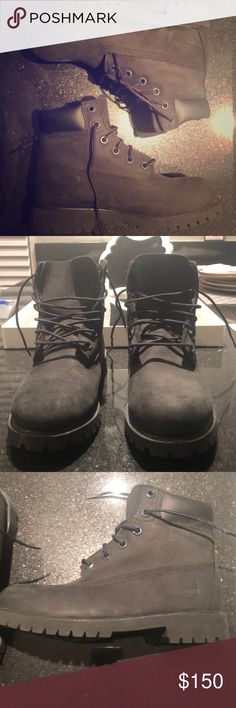 Black women's Timberland Boots US size 4, UK 3.5 , barely worn Timberland boots. Good Condition. Too small for me so I barely wore them. Timberland Shoes Ankle Boots & Booties