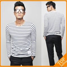 Stripe Lycra brand t shirt