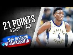 e7bc1c77b88d60 Victor Oladipo Full Highlights 2018.10.29 Pacers vs Blazers - 21 Pts