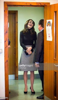 Catherine, Duchess of Cambridge visits Wester Hailes Education Centre in Edinburgh on February 24, 2016 in Edinburgh, Scotland.
