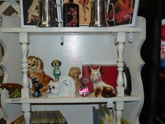 SCRANBERRY COOP : Vintage Dog Statues, Clock