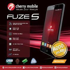 Cherry Mobile Fuze S: Octa-core CPU, 1GB RAM, 4000mAh battery