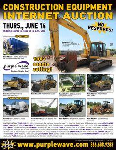 Construction Equipment Auction  June 14, 2012  http://purplewave.co/120614
