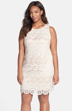 Eliza J Sleeveless Lace Shift Dress (Plus Size) available at #Nordstrom