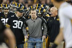 IOWA CITY | One courageous step after another, Brett Greenwood led the Iowa football team into battle Saturday night.