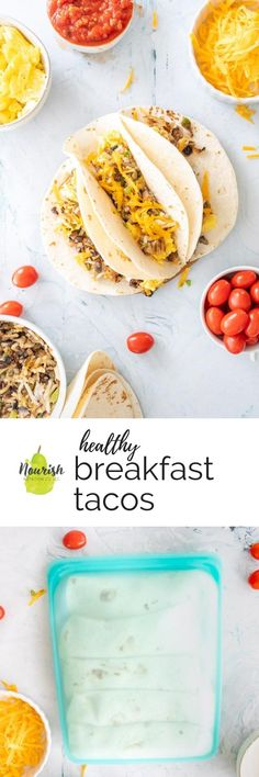Low Carb Recipes To The Prism Weight Reduction Program These Easy Healthy Breakfast Tacos Are Great For A Slow Breakfast Or Brunch. Make a point To Make Extra Eggs, Hashbrowns, And Vegetables To Freeze Tacos Or Burritos For A Quick Breakfast On The Go. Easy To Make Breakfast, Breakfast On The Go, Sunday Breakfast, Brunch Recipes, Breakfast Recipes, Breakfast Ideas, Breakfast Healthy, Mexican Food Recipes, Healthy Recipes