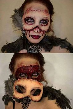 maquillaje de halloween antifaz