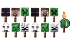 Minecraft is a procedurally-generated game of world exploration, resource harvesting, and freeform construction. Minecraft supports local and online multiplayer, and features are being added regularly. Minecraft Birthday Party, Diy Birthday, Birthday Parties, Fun Ideas, Party Ideas, Craft Ideas, Fuse Beads, Perler Beads, Minecraft Cupcake Toppers