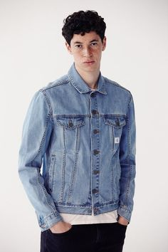 $99, Calvin Klein X Uo Re Issue Denim Trucker Jacket. Sold by Urban Outfitters. Click for more info: https://lookastic.com/men/shop_items/397720/redirect
