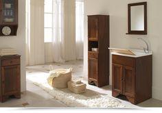 Mobile lavatoio Arte povera 3 misure in legno e polipropilene con ante ...