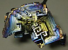 Bismuth Crystal like a view of a city etc