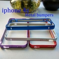 Aluminum bumper on the for iphone4 4S Case Phone Accessories Full Protective Case on arc edge for iphone 4S case no armbands #>=#>=#>=#>=#> Click on the pin to check out discount price, color, size, shipping, etc. Save and like it!