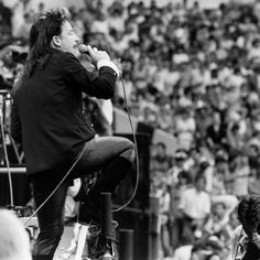 Bono with on Stage at Live Aid Concert, Wembley Stadium, 1985 Good Music, My Music, Ibiza, Zoo Station, U2 Live, Running To Stand Still, The Unforgettable Fire, Bob Geldof, Larry Mullen Jr