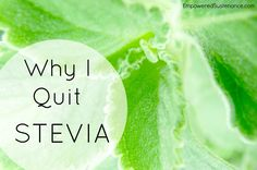 Calling all stevia fans! Here are 6 reasons to rethink your relationship with this (actually not-so-great) sweetener.