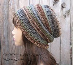 Crochet+Hat+-+Slouchy+Hat,+Crochet+Pattern+PDF