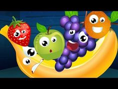 Five Little Fruits Nursery Rhyme Song For Kids - YouTube