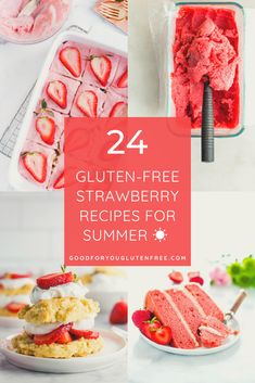 24 Amazing Gluten-Free Strawberry Recipes for Summer - Good For You Gluten Free Strawberry Banana Muffins, Mini Strawberry Cheesecake, Strawberry Overnight Oats, Strawberry Breakfast, Strawberry Sauce, Strawberry Recipes For Summer, Homemade Strawberry Lemonade, Summer Recipes, Refreshing Desserts