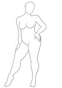 Image result for Plus Size Woman Outline Template