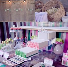 Popcorn Stand & Dessert Table for Horse Themed Birthday Party @Layla Grayce #laylagrayce #blog #birthdayparty