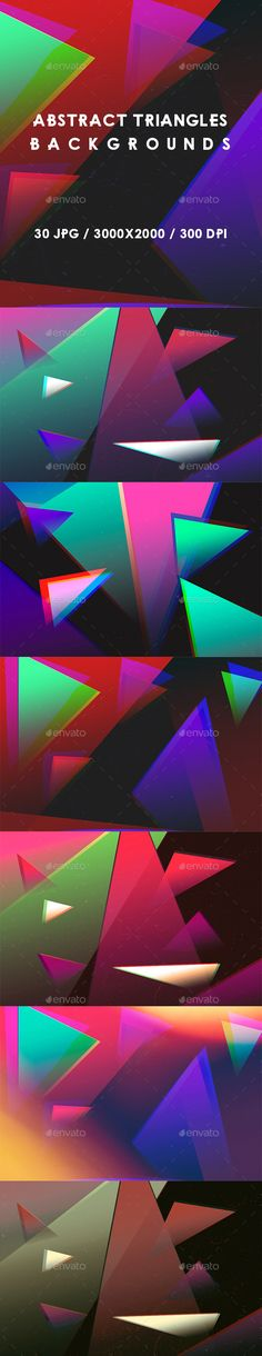 30 Abstract Triangles Backgrounds