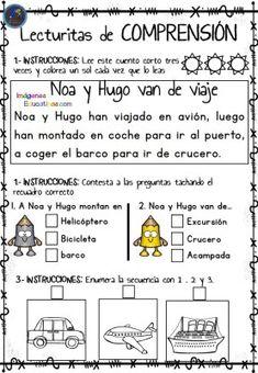 Lecturitas de comprensión 2 para Infantil y primer ciclo de Primaria Os dejamos estas fantásticas actividades para trabajar la comprensión lectora de los más pequeños. Este archivo está compuesto de lecturas cortas diferenciadas de...