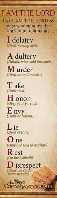 Old testament 10 Commandments