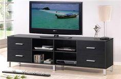 Walt Espresso Wood TV Stand